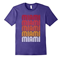 Miami Miami Miami T-shirt Purple