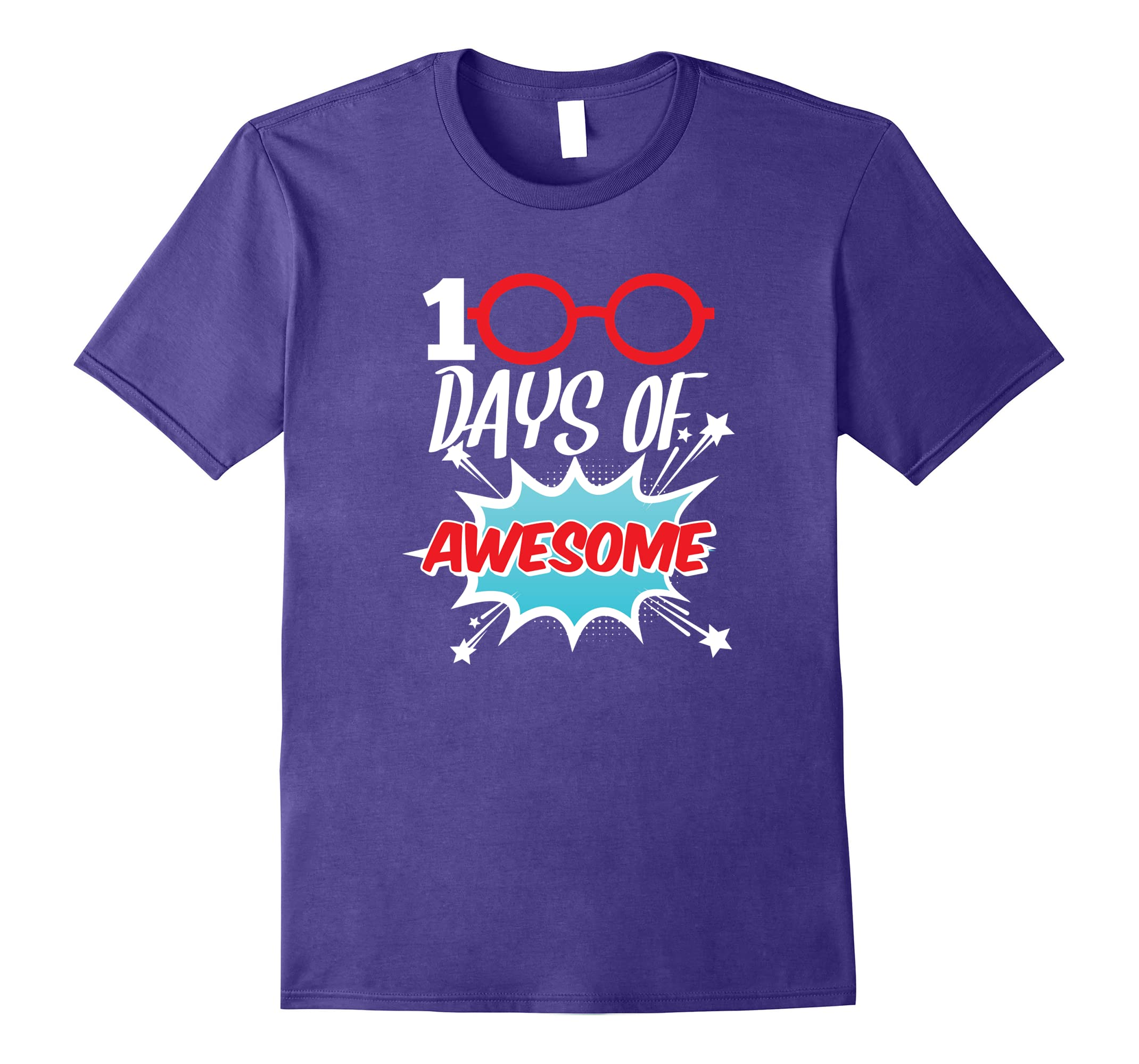 53cfc2d538b 100 Days of Awesome Funny 100th Day of School Tshirt-RT