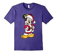 Disney Santa Mickey Mouse Holiday T-shirt Purple