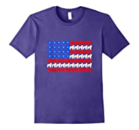 Goldendoodle 4th Of July Usa American Flag Patriotic Dog Shirts Purple