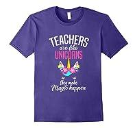 Teas Are Like Unicorns Tea Appreciation Gift Shirts Purple