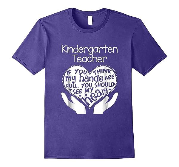 Cover Your Body With Amazing Kindergarten Tea Shirt Heart Hands School Team Tshirt