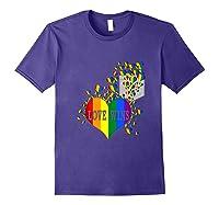 Love Wins Lgbtq Color Heart Pride Month Rally Shirt Tank Top Purple