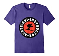 Apres Ski Skiing Instructor T Shirt Usa, France Lover Gift Purple
