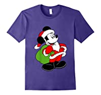 Disney Santa Mickey Mouse T Shirt Purple