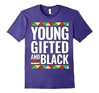 Black History Gifted Shirts Purple