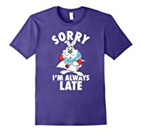 Disney Alice Always Late T Shirt Purple