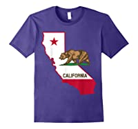 California Bear And Map Cool Gift Shirts Purple