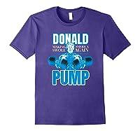 Donald Pump Swole America Trump Weight Lifting Shirts Purple