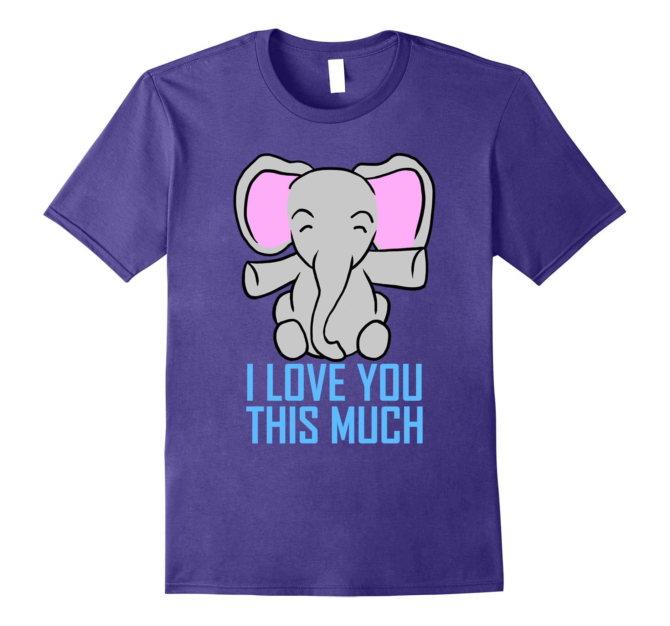 Elephant I Love You This Much Valentine's Day Gift T-Shirt-RT
