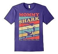 Retro Vintage Mommy Shark Grandma Mather's Day Gifts Shirts Purple