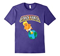 Anti Space Force Funny Donald Trump Gift Shirts Purple