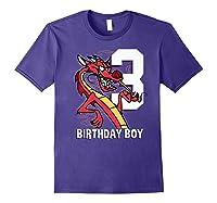 Mulan 3rd Birthday Boy Mushu Portrait Shirts Purple