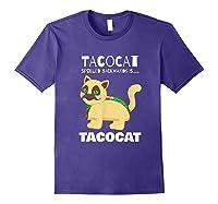Tacocat Spelled Backwards Taco Cat Tacos Food Shirts Purple