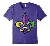 Fleur De Lis Mardi Gras Cute Fat Tuesday Funny Gift Shirts Purple