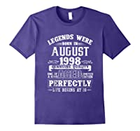 August 1998 20th Birthday Gift Shirt 20 Years Old Purple