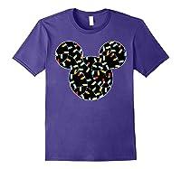 Disney Mickey Christmas Lights T Shirt Purple