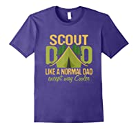 Scout Dad Cub Leader Boy Camping Scouting Gift Shirts Purple