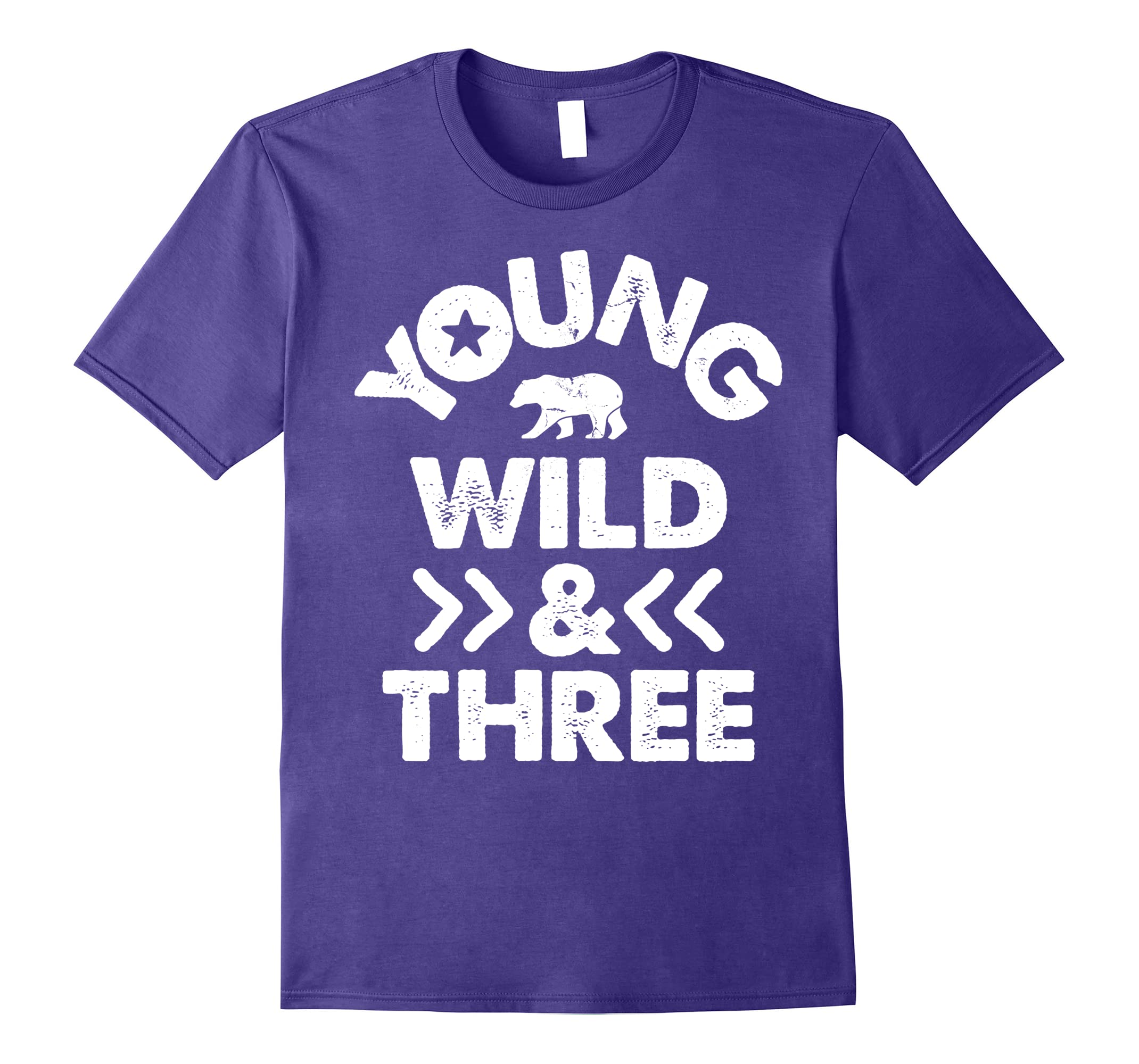 Young Wild And Three 3rd Birthday Party 3 Years Old T Shirt RT