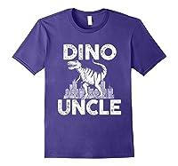 Dino-uncle Dinosaur Family Matching T-shirts Purple