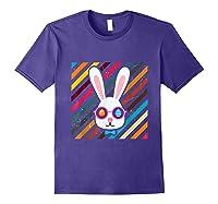 Funny Techno Rabbit Easter Edition Shirt Easter Celebration Purple