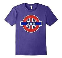 London Uk T Shirt Fun English British City Travel Gift Purple