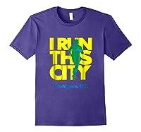 I Run This City Washington D C Apparel For Marathon Runner Shirts Purple