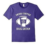 Pentagram Occult Satanic Lucifer Gift Shirts Purple