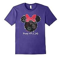 Disney Minnie Fire Works T Shirt Purple