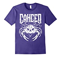 Cancer Hearth Kitchen Witch Shirt Skull Constellation Purple