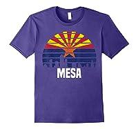 Mesa Arizona T Shirt Az Group City Silhouette Flag Tee Gift Purple