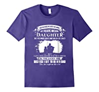 God Blessed Me With An Angel My Freaking Awesome Daughter Shirts Purple