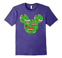 Disney Mickey Christmas Ornats T Shirt Purple