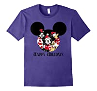 Disney Happy Holidays Group T Shirt Purple