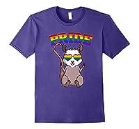 Lgbt Possum Gay Pride Rainbow Lgbtq Cute Gift Opossum Premium T-shirt Purple