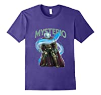 Spider Man Far From Home Mysterio Stance Shirts Purple