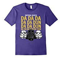 S Darth Vader Imperial March Graphic Shirts Purple