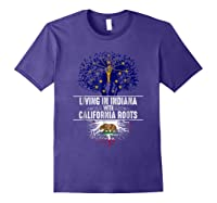 Indiana Home California Roots State Tree Flag Gift Shirts Purple