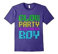 Glow Party Birthday Boy Party Gift Neon Retro Shirts Purple