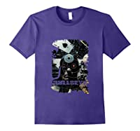 Marvel Bullseye Paint Splatter Collage Portrait Tank Top Shirts Purple