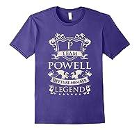 Team Powell Last Name Gifts Vintage Legend Family Tshirt Purple