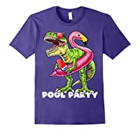 Pool Party T Rex Dinosaur Flamingo Float Summer Gift Shirts Purple