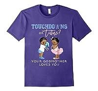 Godmother Gender Reveal Touchdown Tutu Baby Shower Shirts Purple