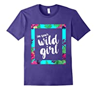 Funny Free Woman T Shirt Frame Of Flora And Fauna Purple