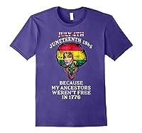 Ancestors Black African American Flag T Shirt Purple