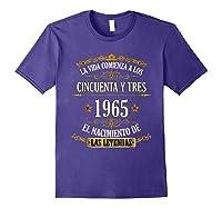 Birthday T Shirt Gift For Latino Born In 1965 Purple
