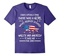 Once Upon A Time Wolf America 4th Of July T Shirt Gifts Purple