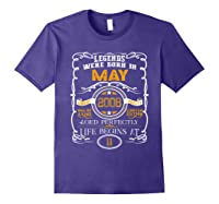 May 2008 11th Birthday Gift 11 Years Old For Shirts Purple