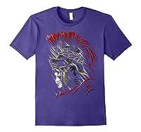 Roman Skull Praetorian Warrior Shirts Purple