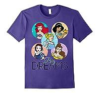 Princess Big Dreams Sparkle Character Bubbles Shirts Purple